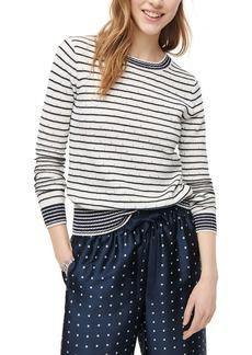 J.Crew Pointelle Stripe Crewneck Sweater
