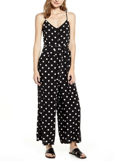 J.Crew Polka Dot Strappy Wide Leg Jumpsuit