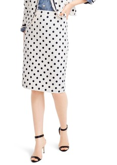 J.Crew Polka Dot Textured Tweed Pencil Skirt