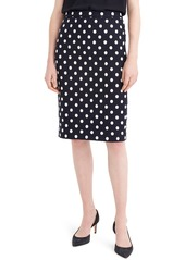 J.Crew Polka Dot Textured Tweed Pencil Skirt
