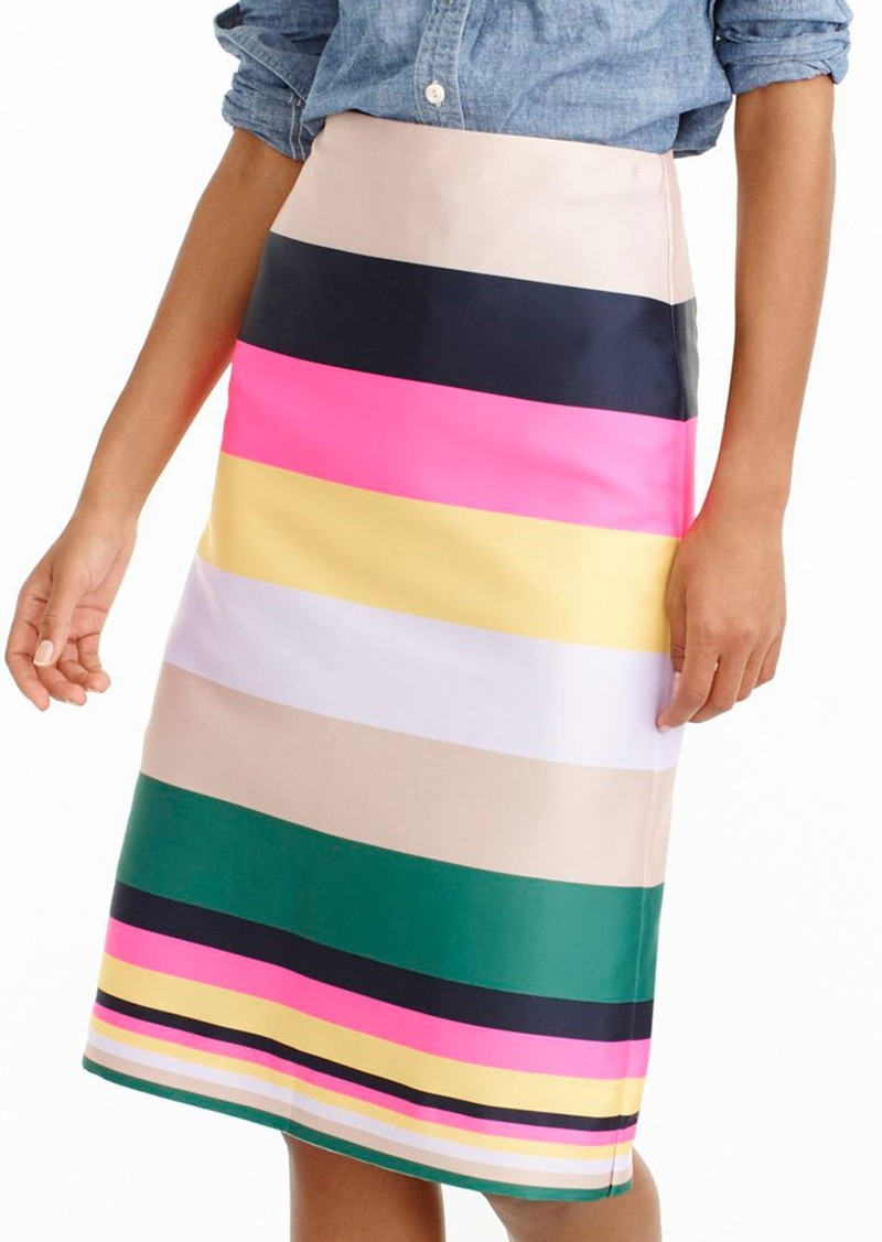 c1f4b6cb630 J.Crew J.Crew Pop Stripe Skirt (Regular   Petite)