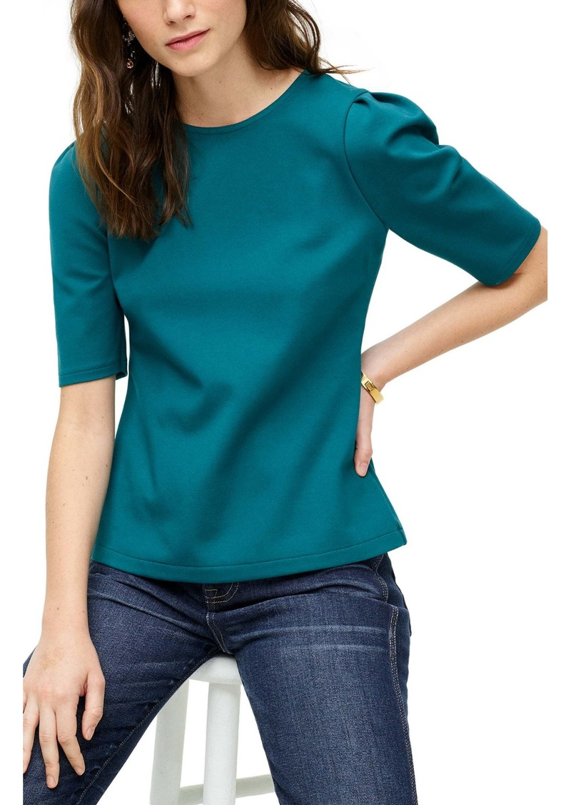 J.Crew Puff Sleeve Ponte Top
