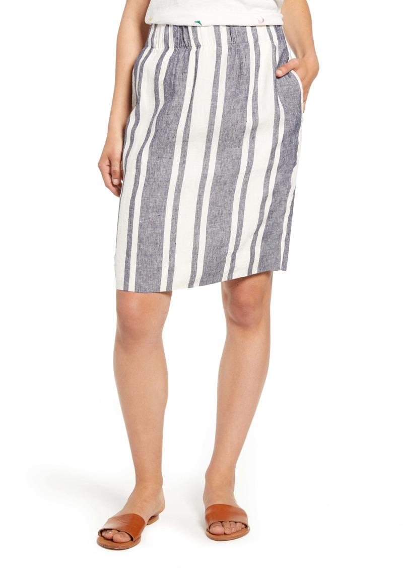 J.Crew Pull-On Stripe Skirt