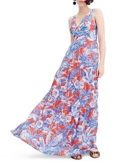J.Crew Ratti V-Neck Maxi Dress