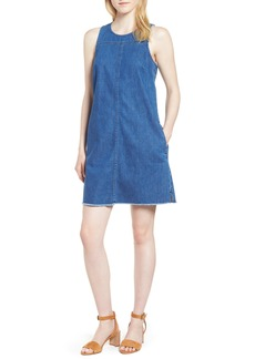 J.Crew Raw Edge Hem Denim Shift Dress