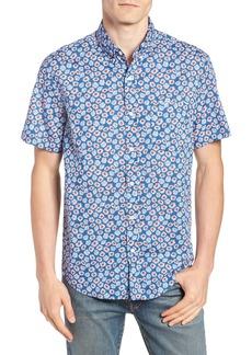 J.Crew Regular Fit Daisy Print Stretch Sport Shirt