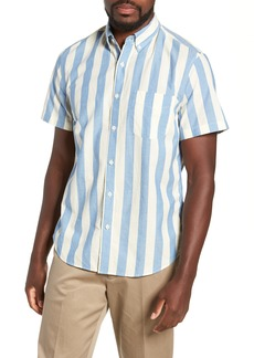 J.Crew Regular Fit Madras Stripe Sport Shirt