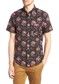 J.Crew Regular Fit Stretch Secret Wash Floral Print Sport Shirt