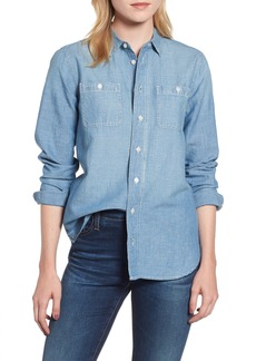 J.Crew Relaxed Chambray Boy Shirt (Petite)