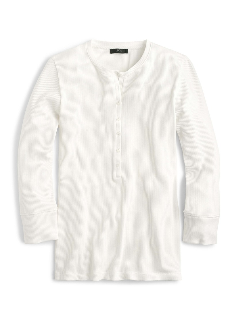 J.Crew Ribbed Three-Quarter Sleeve Henley