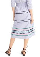 J.Crew Rickrack Trim Poplin Skirt