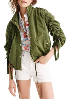 J.Crew Ruched Sleeve Field Jacket