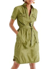J.Crew Ruffle Hem Utility Shirtdress (Regular & Petite)