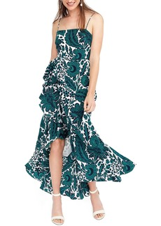 J.Crew Ruffle High/Low Silk Dress