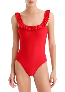J.Crew Ruffle Scoop Back One-Piece Swimsuit