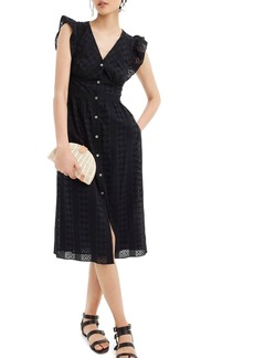 J.Crew Ruffle Sleeve Eyelet Dress