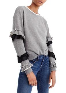 J.Crew Ruffle Sleeve Sweatshirt