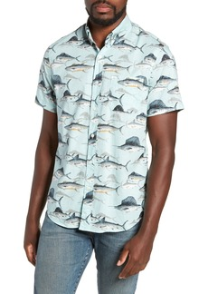 J.Crew Sailfish Fish Print Sport Shirt