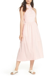 J.Crew Sarong Seersucker Midi Dress