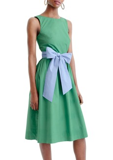 J.Crew Sash Tie A-Line Dress (Regular & Petite)