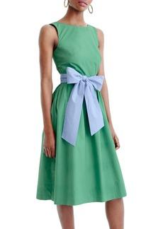 J.Crew Sash Tie A-Line Dress (Regular & Petite)