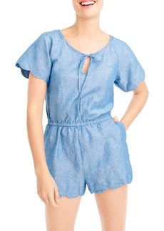 J.Crew Scallop Cover-Up Romper