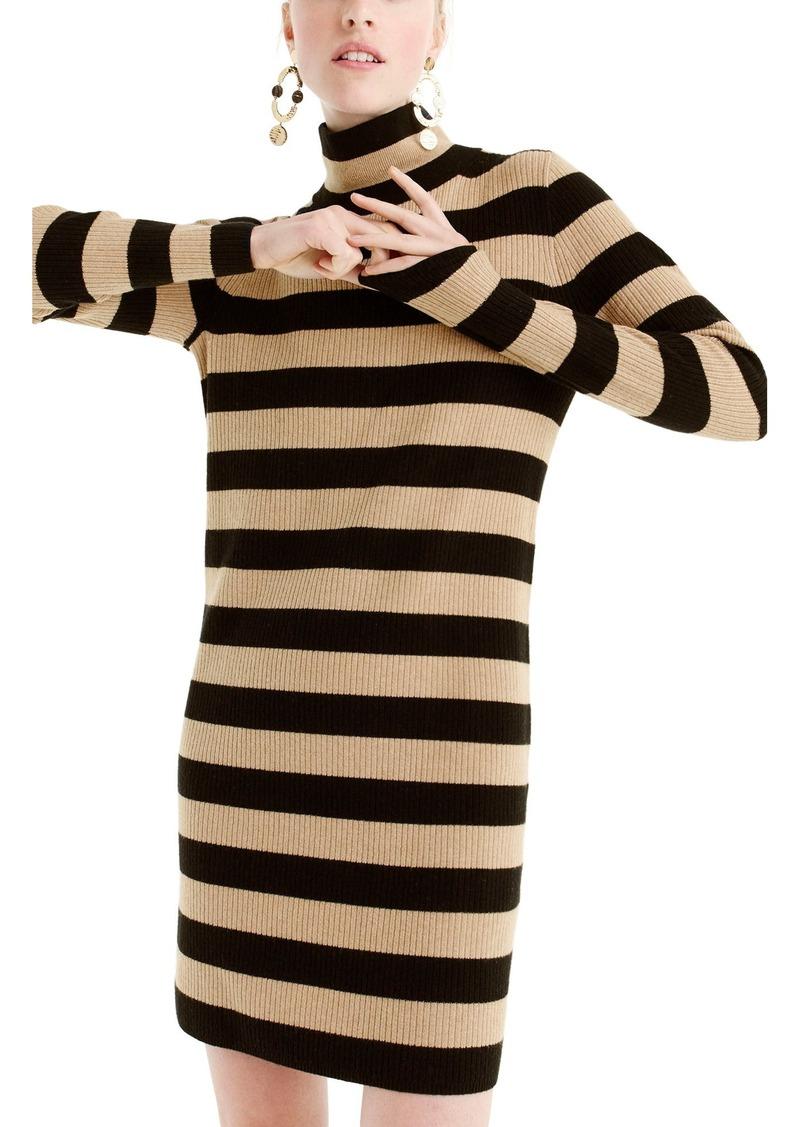 9283b859c8 J.Crew J.Crew Stripe Turtleneck Sweater Dress (Regular   Petite ...