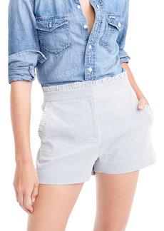 J.Crew Ruffled Seersucker Stripe Shorts