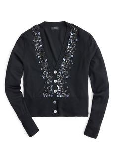 J.Crew Sequin Embellished Cardigan Sweater