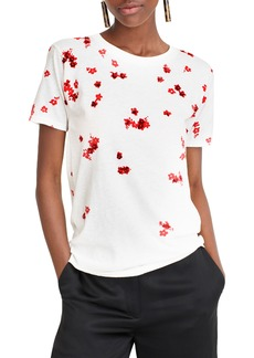 J.Crew Sequin Flowers Tee