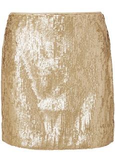 Sequinned crepe mini skirt