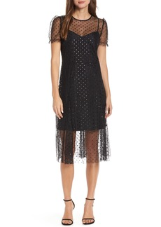 J.Crew Sheer Polka Dot Party Dress (Nordstrom Exclusive)