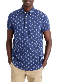 J.Crew Short Sleeve Paisley Linen & Cotton Popover Shirt