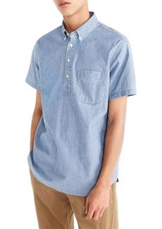 J.Crew Short Sleeve Stretch Chambray Popover Shirt