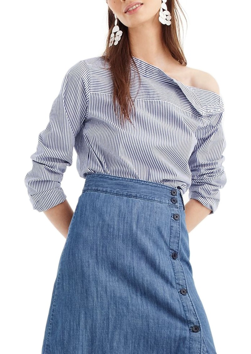 842ec453c6ed SALE! J.Crew J.Crew Side Button Chambray Skirt (Regular & Petite)