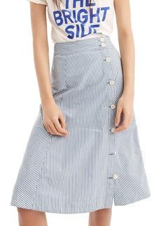 J.Crew Side Button Stripe Skirt