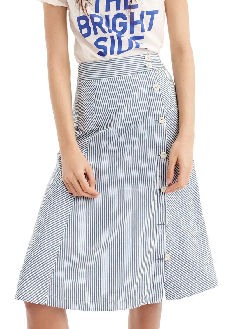 78497b1719 J.Crew J.Crew Side Button Stripe Skirt | Skirts
