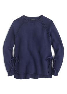 J.Crew Side Tie Crewneck Sweater