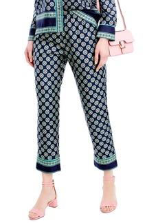 J.Crew Foulard Print Silk Pants