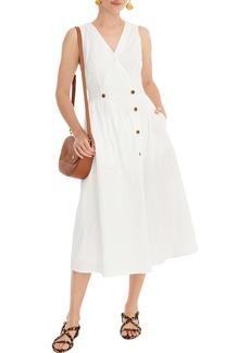 J.Crew Sleeveless Cotton Poplin A-Line Shirtdress