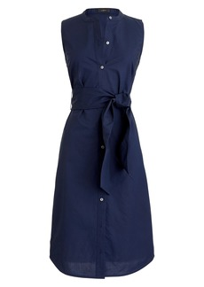 J.Crew Sleeveless Cotton Poplin Shirtdress (Regular & Petite)