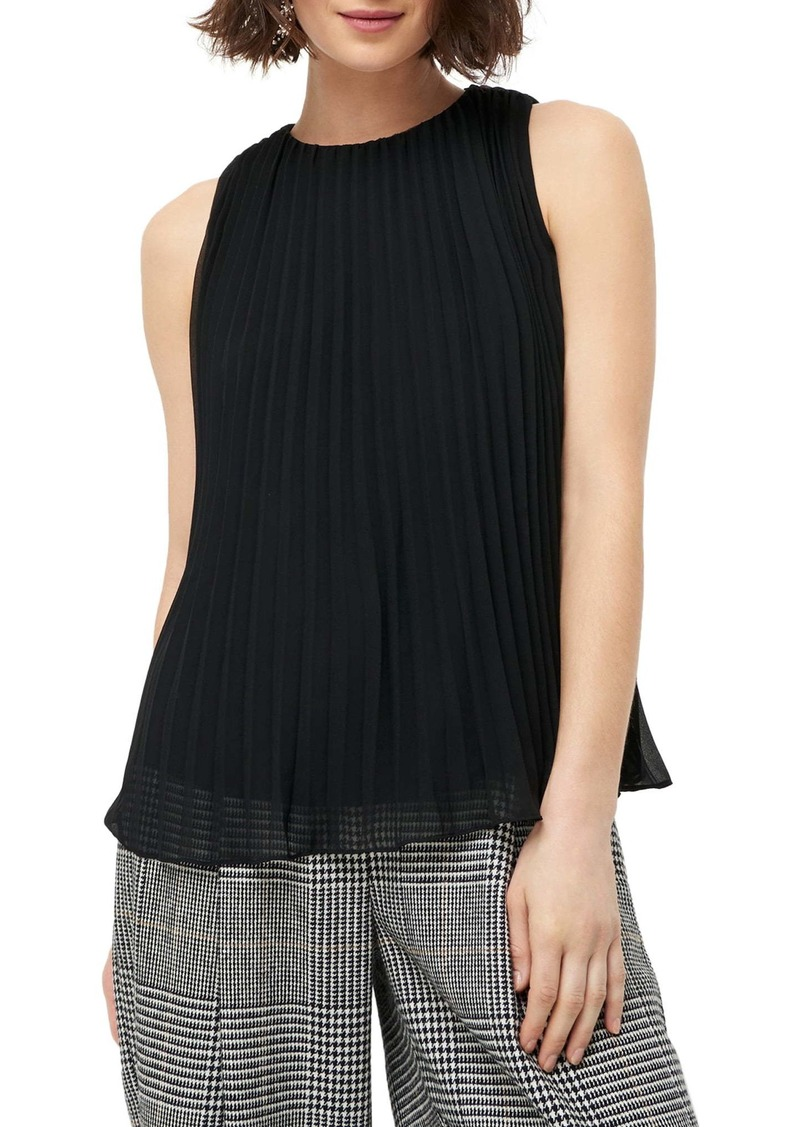 J.Crew Sleeveless Pleated Georgette Blouse