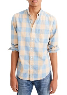 J.Crew Slim Fit Heather Buffalo Check Shirt