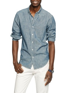 J.Crew Slim Fit Indigo Chambray Sport Shirt