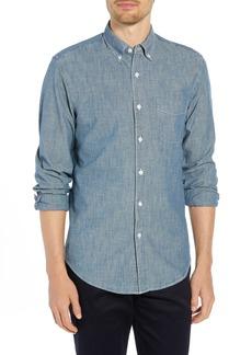 J.Crew Slim Fit Indigo Japanese Chambray Shirt
