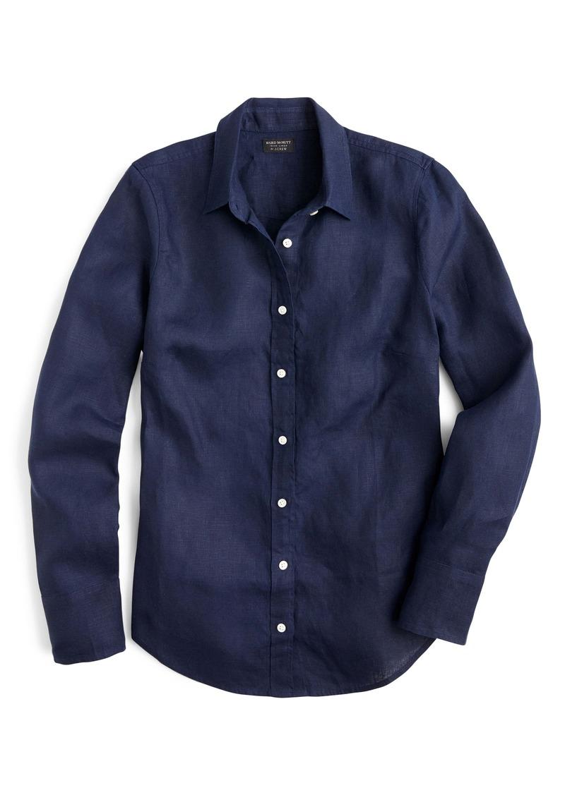 J.Crew Slim Fit Perfect Piece-Dyed Irish Linen Shirt