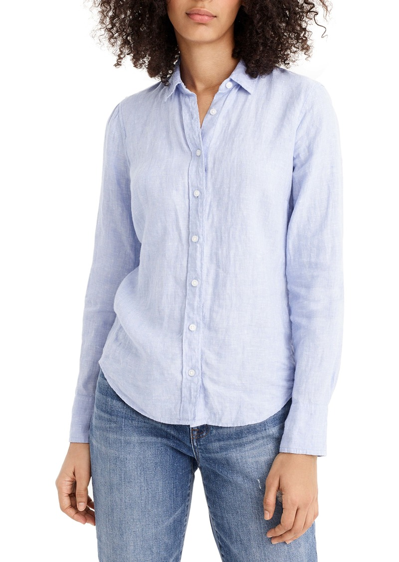 J.Crew Slim Fit Perfect Piece-Dyed Irish Linen Shirt