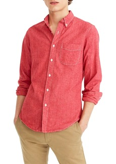 J.Crew Slim Fit Stretch Chambray Sport Shirt