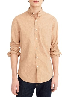 J.Crew Slim Fit Stretch Secret Wash Dot Sport Shirt