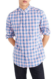 J.Crew Slim Fit Stretch Secret Wash Gingham Sport Shirt